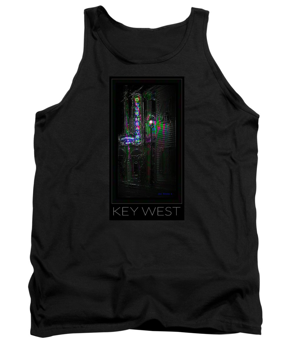 Blue Heaven Tank Top featuring the photograph Key West Florida - Blue Heaven Rendezvous by John Stephens
