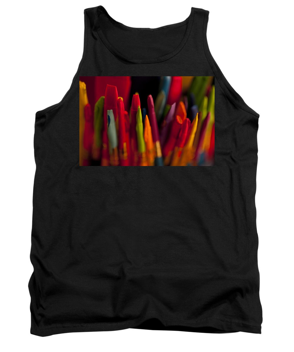 Art Tank Top featuring the photograph Multi Colored Paint Brushes by Jim Corwin