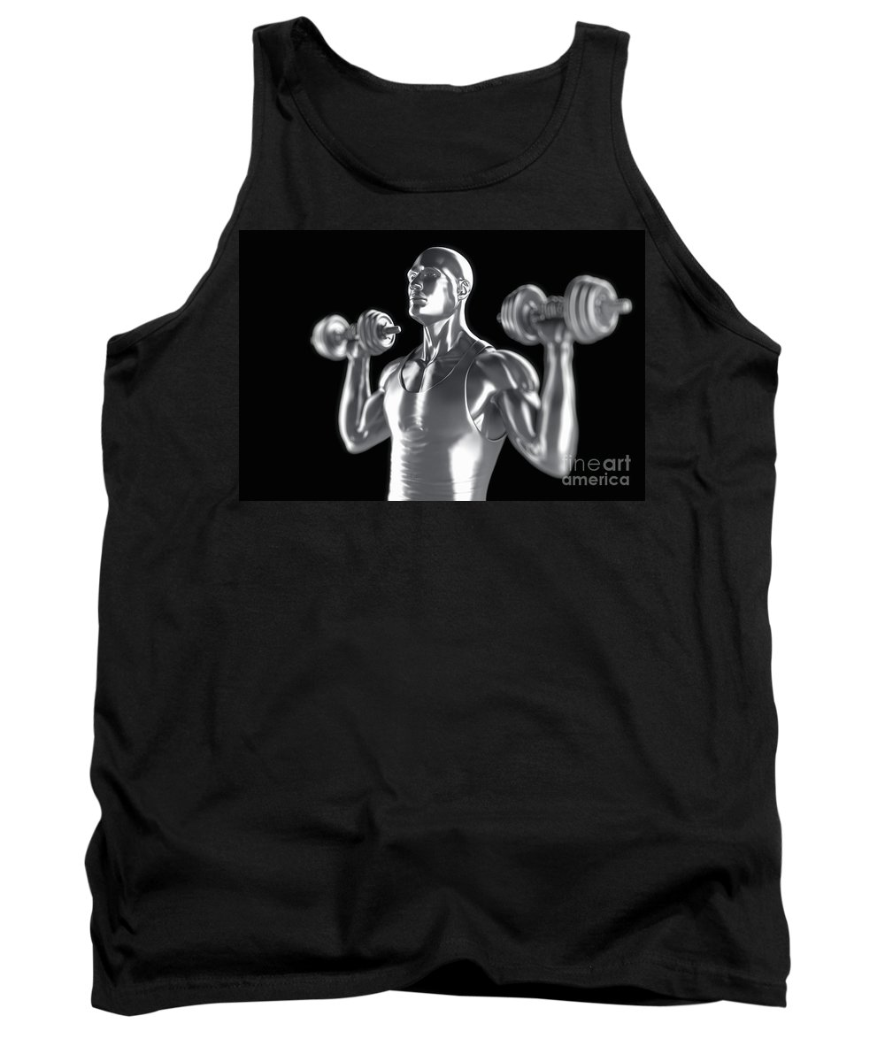 Anatomical Model Tank Top featuring the photograph Exercise Workout by Science Picture Co