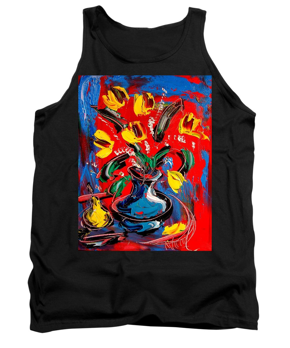 Tank Top featuring the painting Tulips by Mark Kazav