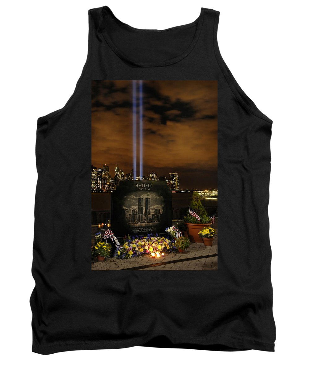 9-11.nine Eleven Tank Top featuring the photograph 9-11 Monument by Dave Mills