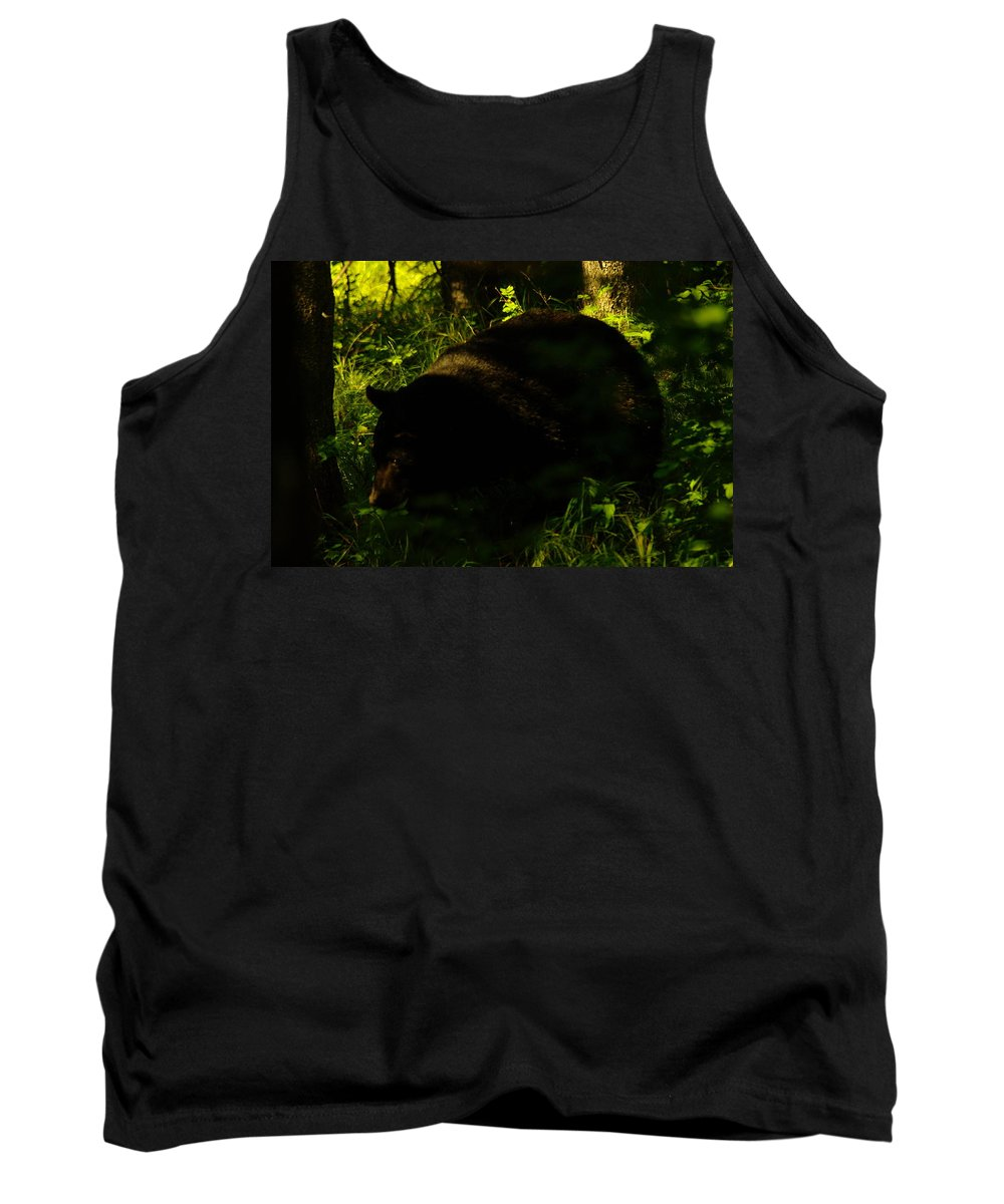 Bears Tank Top featuring the photograph A Black Bear by Jeff Swan