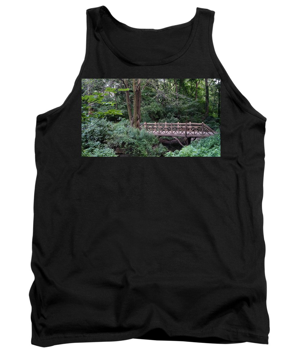 Central Tank Top featuring the photograph A Bridge In Central Park by John Wall