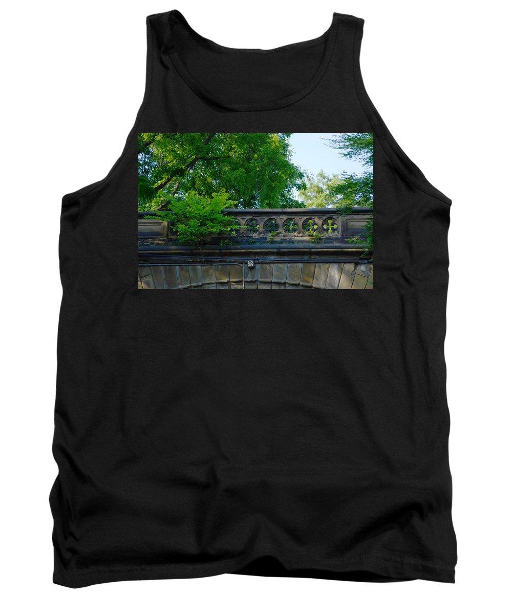 Bridge Tank Top featuring the photograph A Central Park Bridge by Kathrine R Mitchell