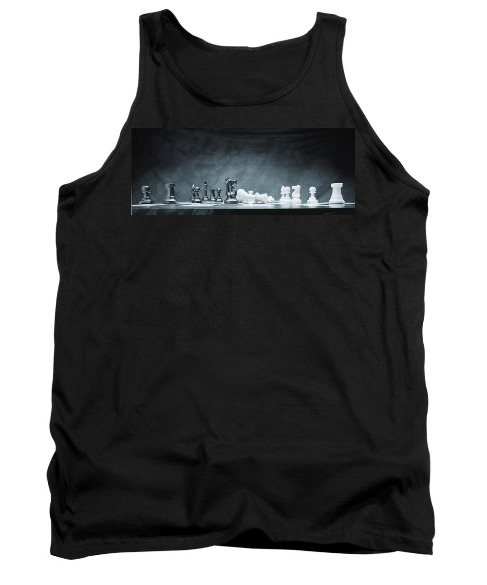 Achievement Tank Top featuring the photograph A Chess Game by Don Hammond