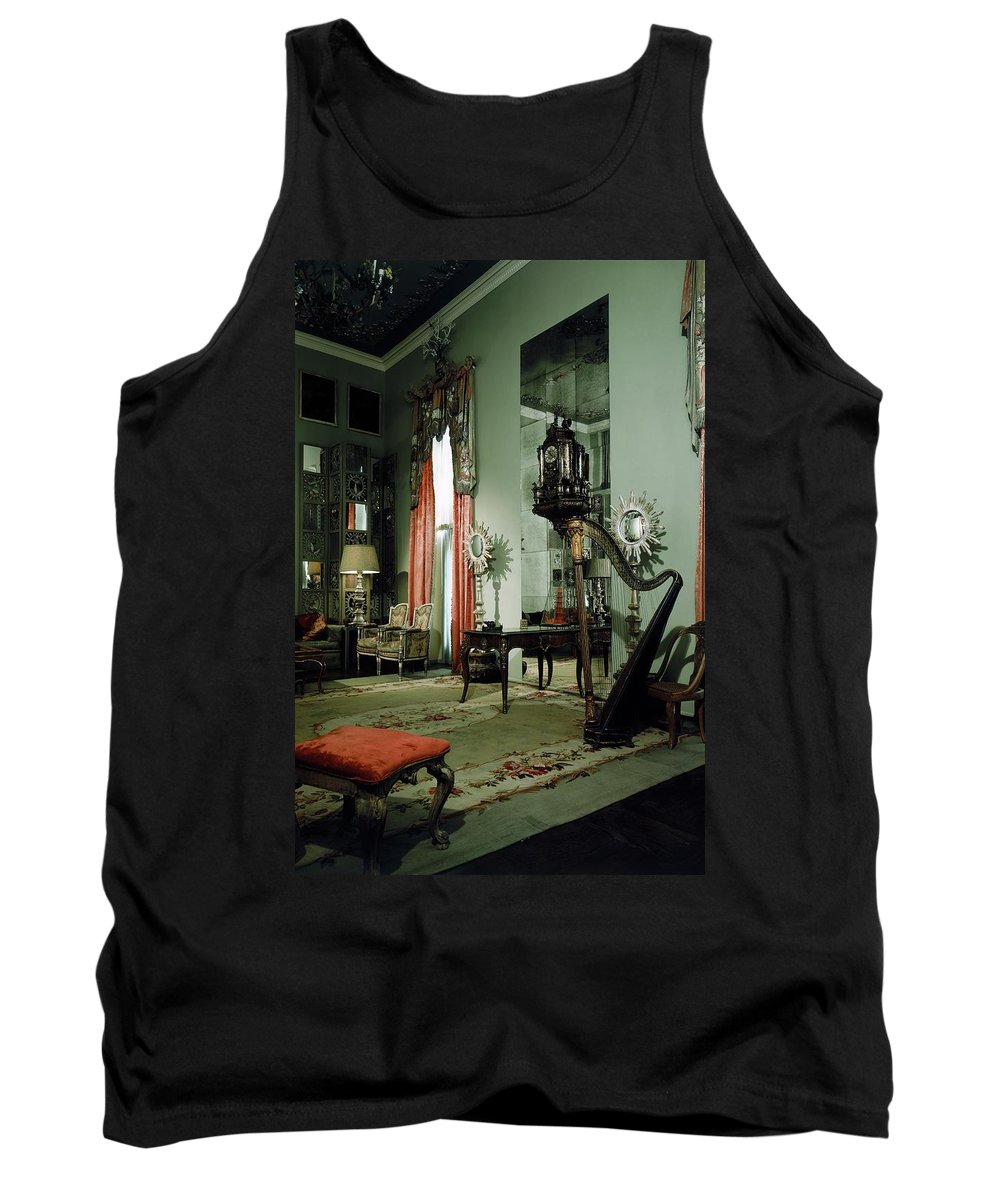 Tony Duquette Tank Top featuring the photograph A Drawing Room by Shirley C. Burden