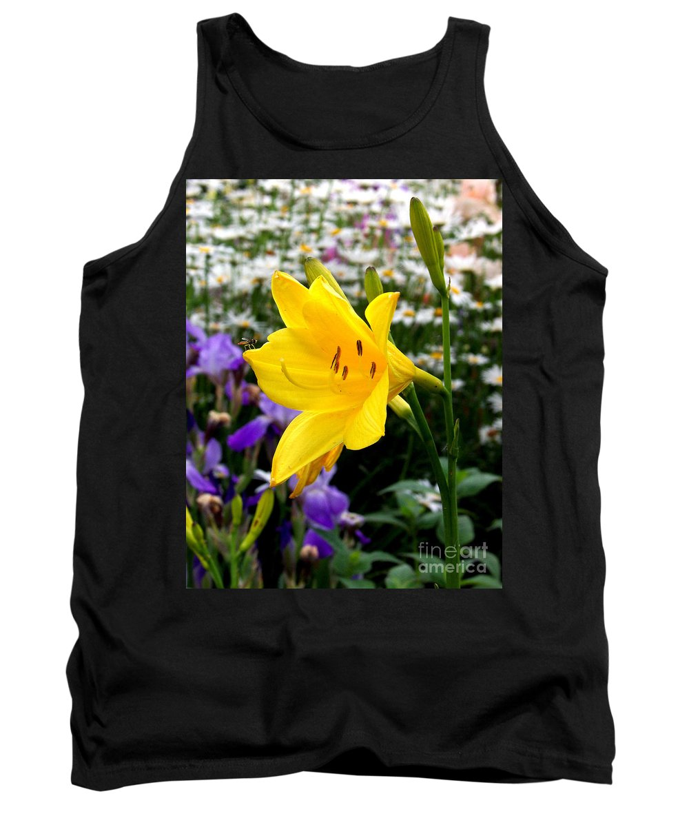 Lily Tank Top featuring the photograph A Fly In The Ointment by Kathy McClure