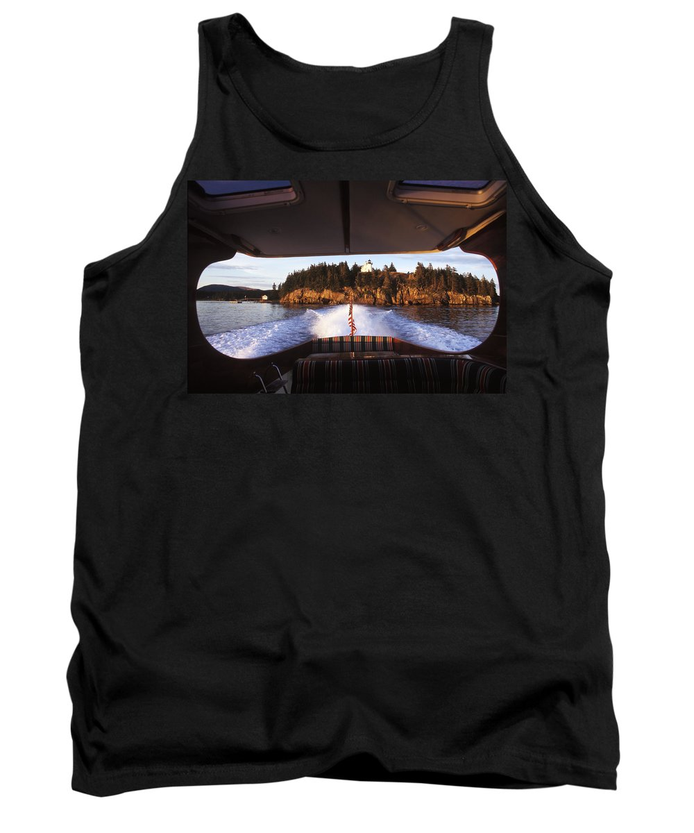 Afternoon Tank Top featuring the photograph A Hinckley Picnic Boat Travels by David McLain
