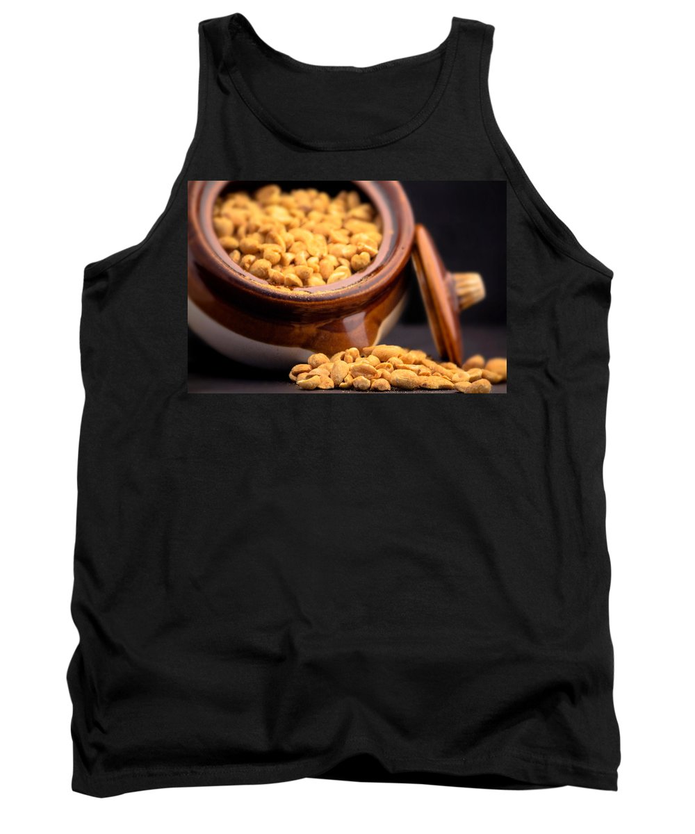 Peanut Tank Top featuring the photograph A Jar Of Peanuts by Ester Rogers