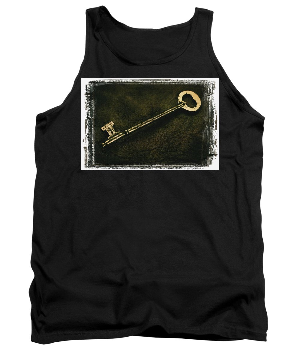 Admit Tank Top featuring the photograph A Key by Don Hammond