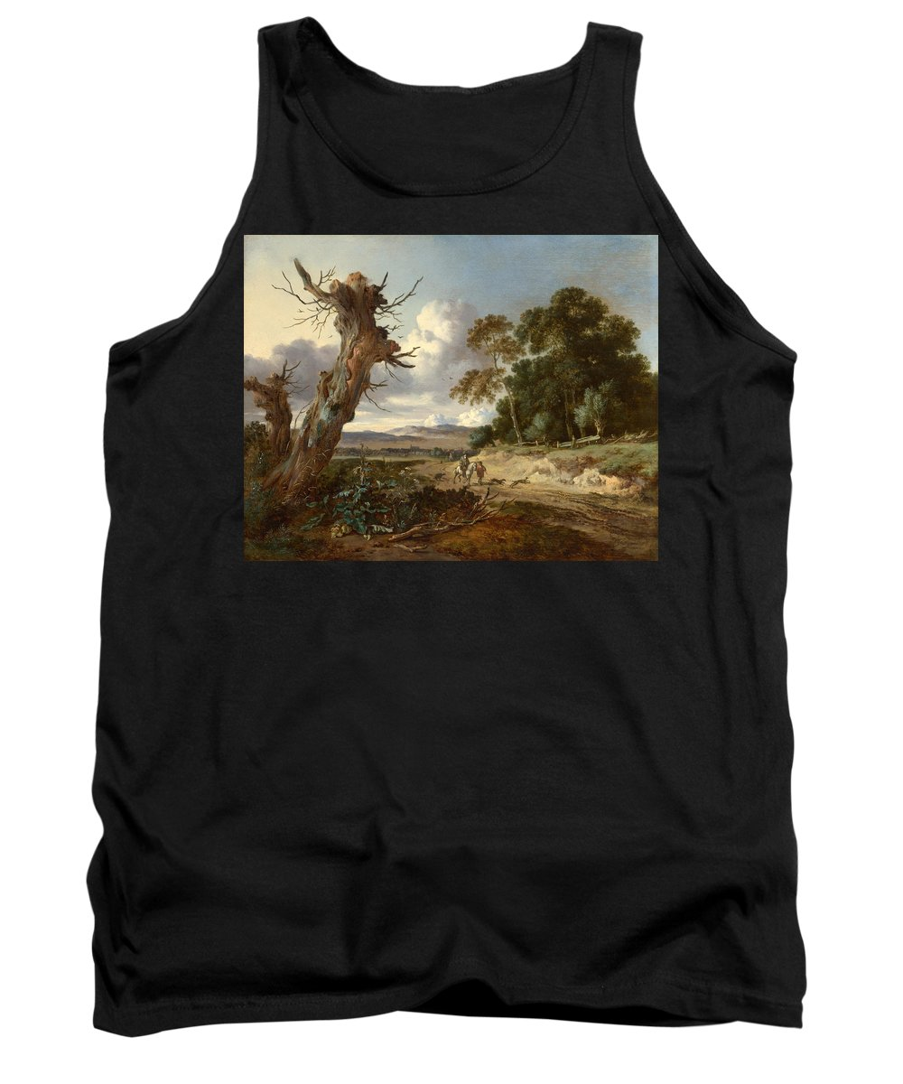 Jan Wijnants Tank Top featuring the painting A Landscape With Two Dead Trees by Jan Wijnants