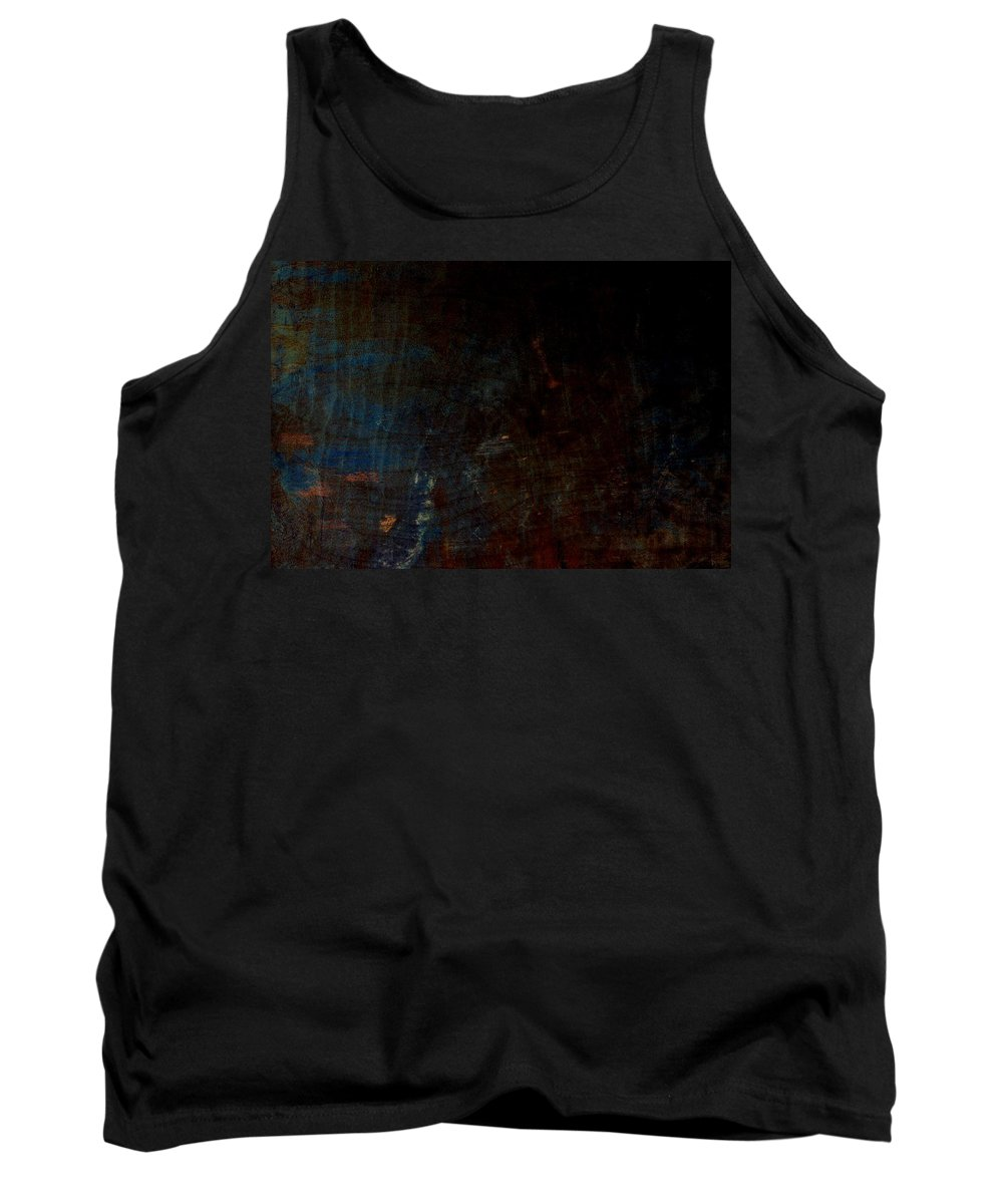 A Little Blue Tank Top featuring the digital art A Little Blue by Chastity Hoff