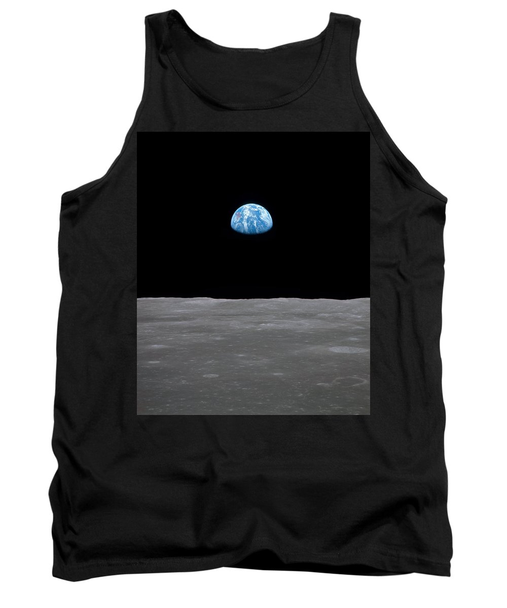 Moon Tank Top featuring the photograph A Long Way From Home by Ricky Barnard