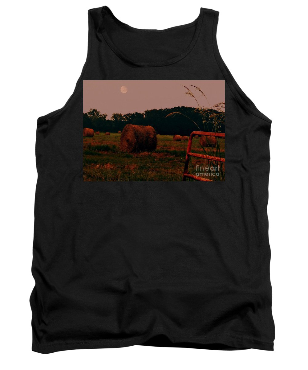 Bales Of Hay Tank Top featuring the photograph A Perfect Evening by Lydia Holly