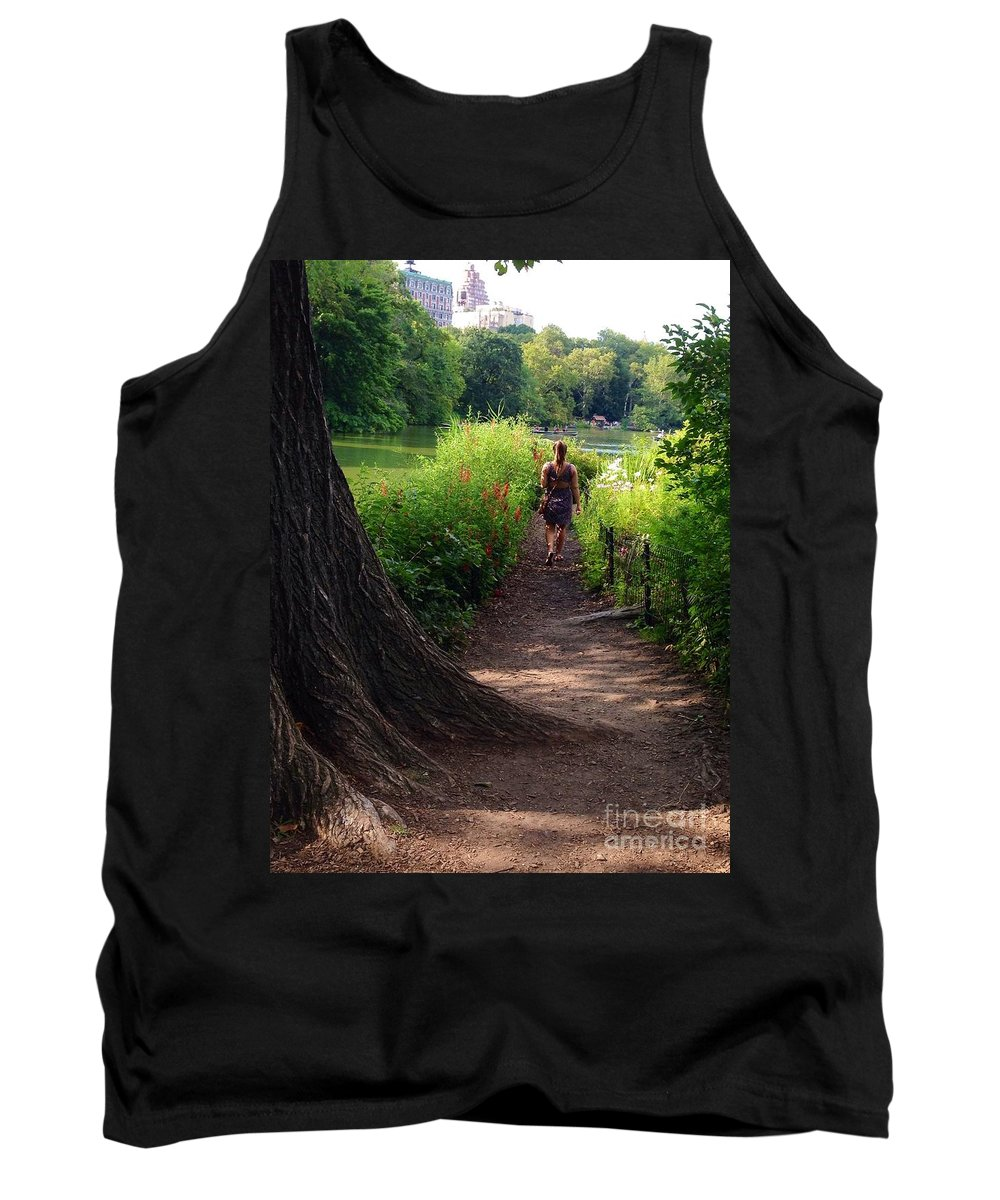 Reservoir Tank Top featuring the photograph A Walk By The Reservoir by Christy Gendalia