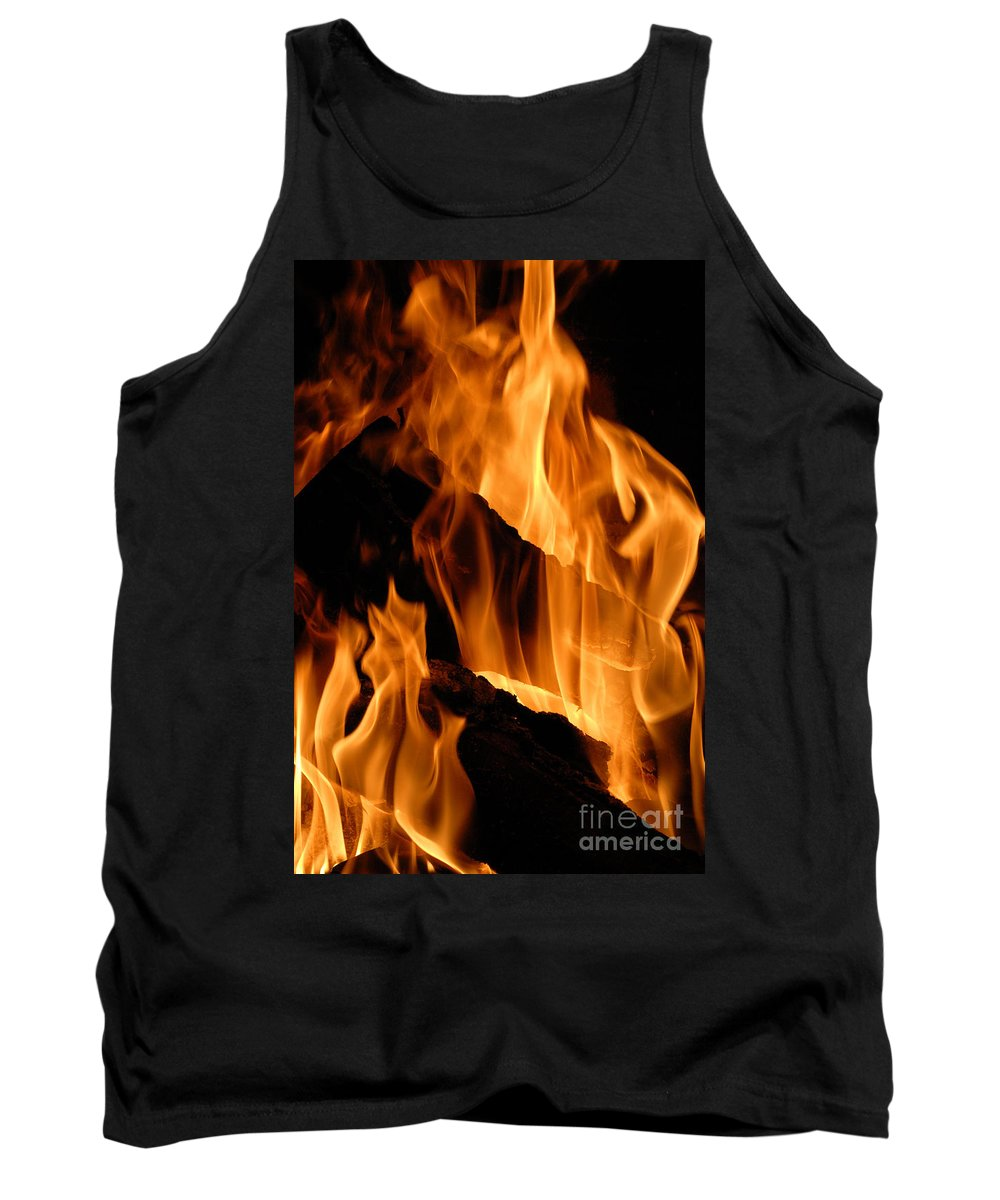 Fire Tank Top featuring the photograph A Winter Fire by Paul W Faust - Impressions of Light