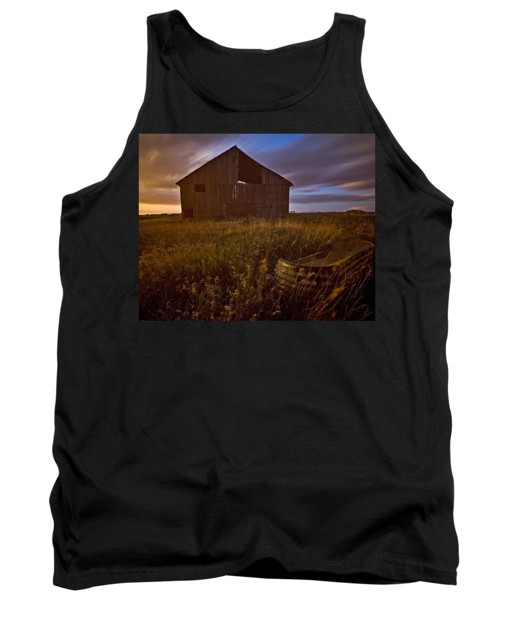 Light Tank Top featuring the photograph Abandoned Building, Saskatchewans by Chad Coombs