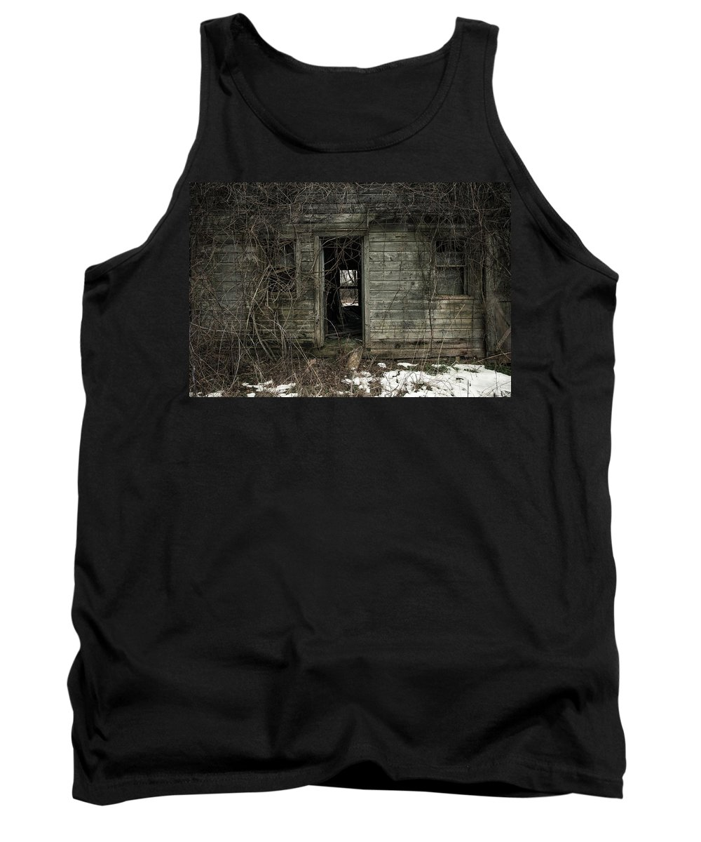 Rustic Tank Top featuring the photograph Abandoned House - Enter House On The Hill by Gary Heller