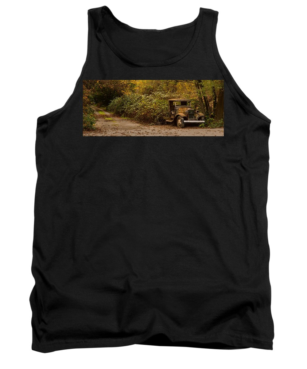 Car Tank Top featuring the photograph Abandoned Truck by Bryant Coffey