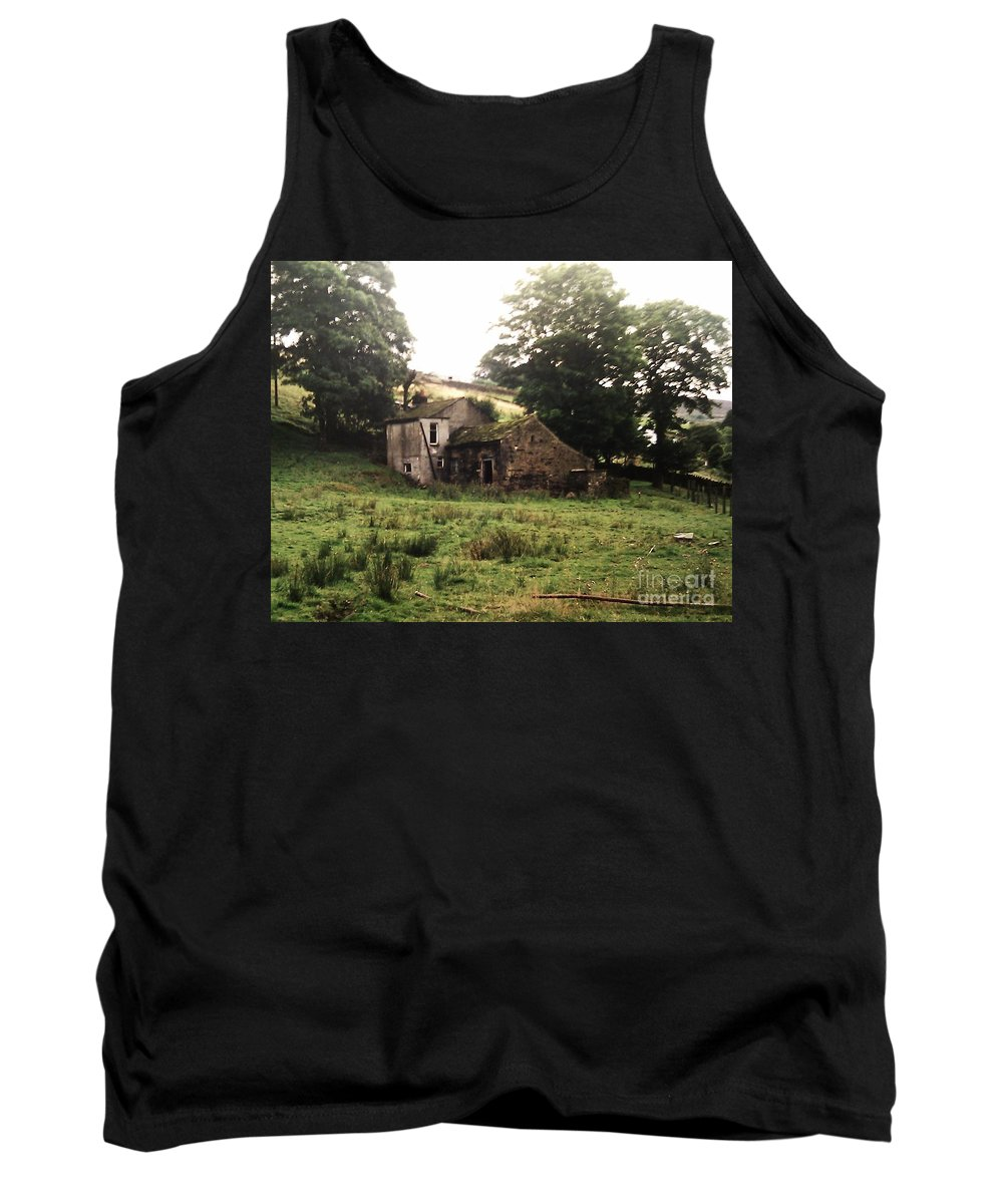 Abandoned Tank Top featuring the photograph Abandoned Yorkshire House by Martin Howard
