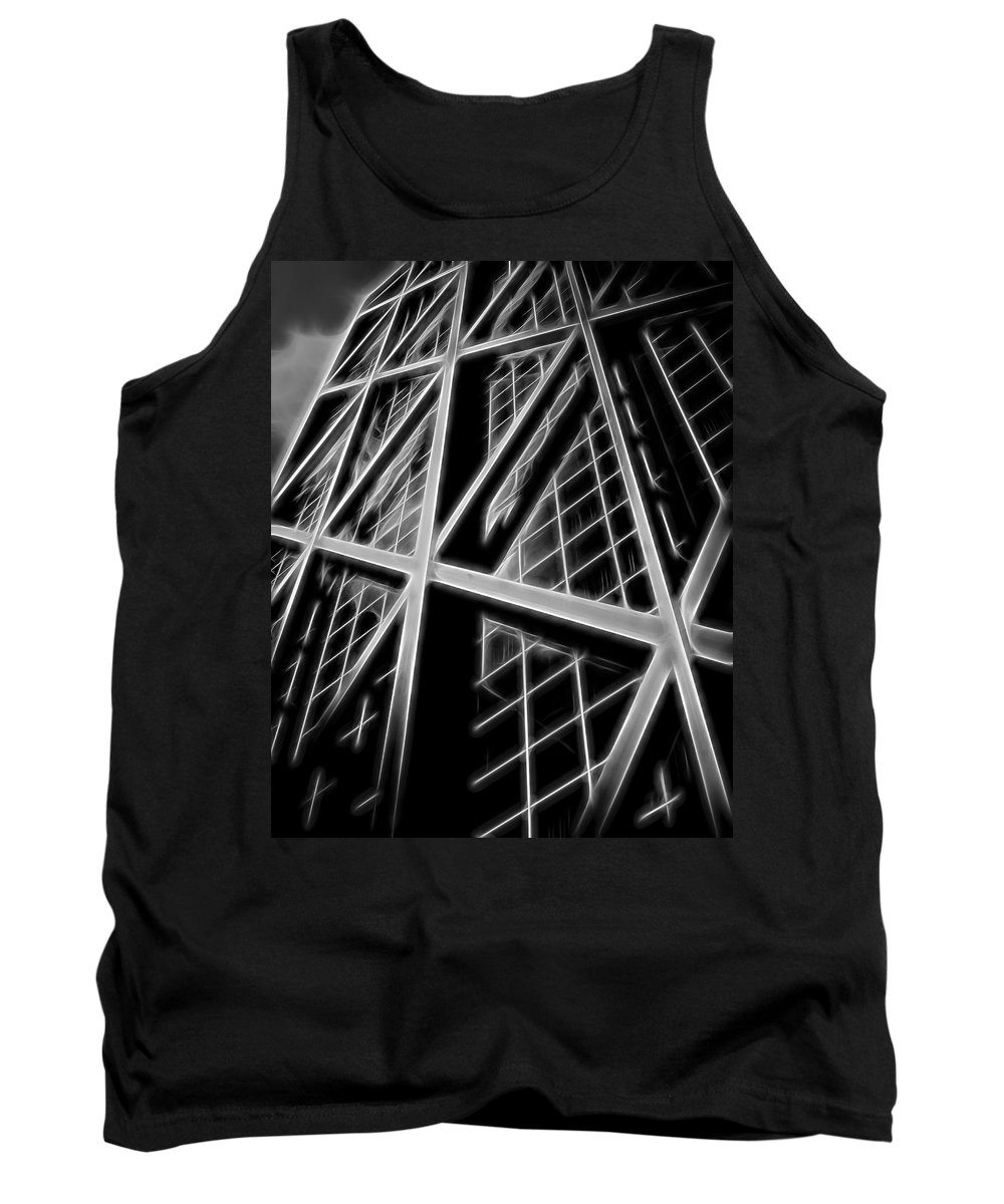 Tank Top featuring the digital art Abstract Buildings 2 by Cathy Anderson