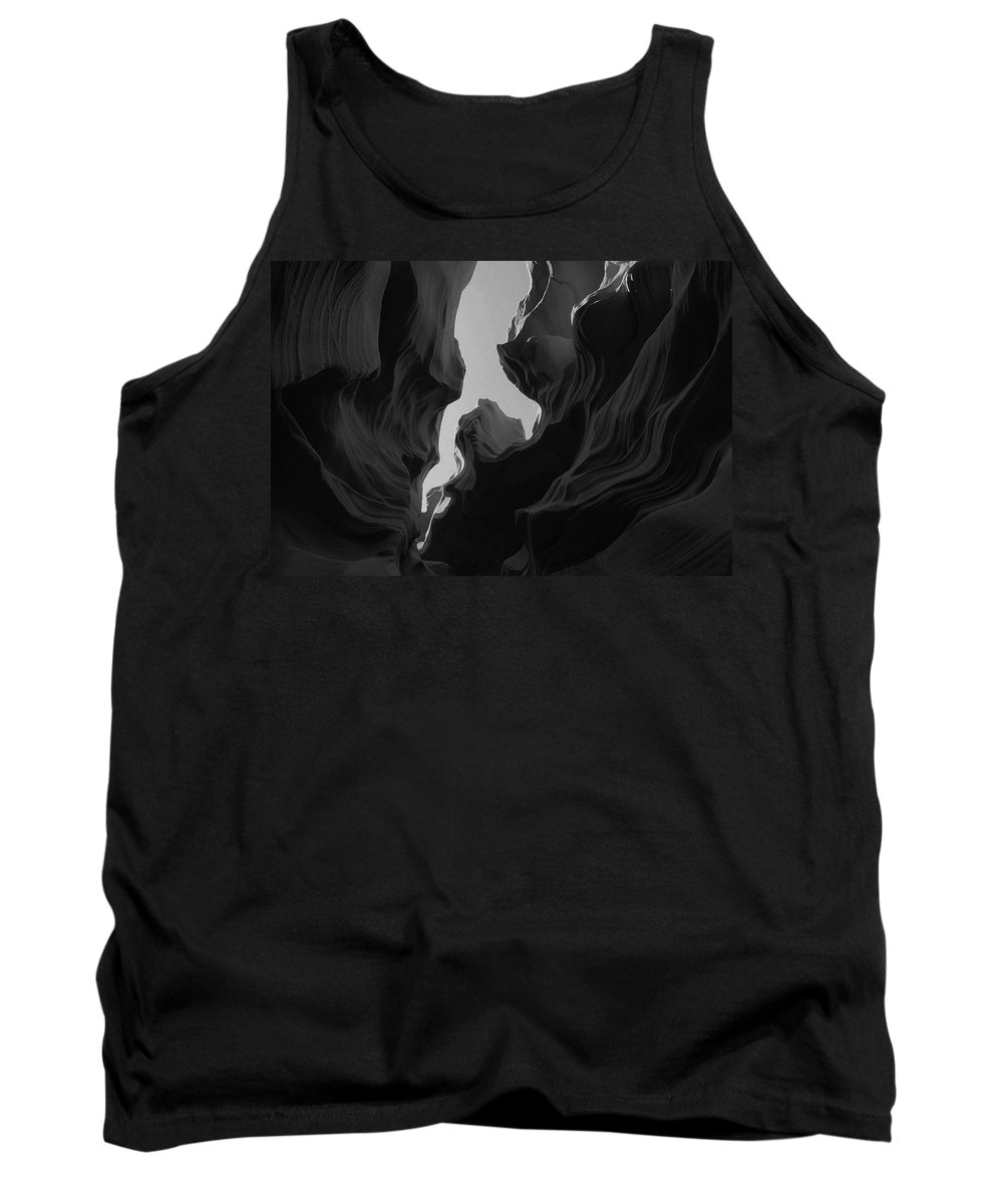 Abstract Tank Top featuring the photograph Abstract Canyon 2 by Ingrid Smith-Johnsen
