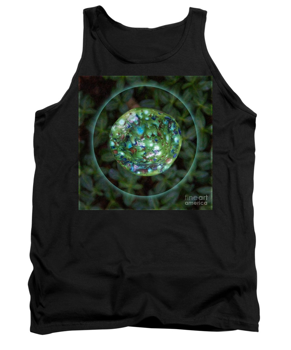 1x1 Tank Top featuring the photograph Abstract Fairy House Garden Art By Omaste Witkowski Owfotografik by Omaste Witkowski
