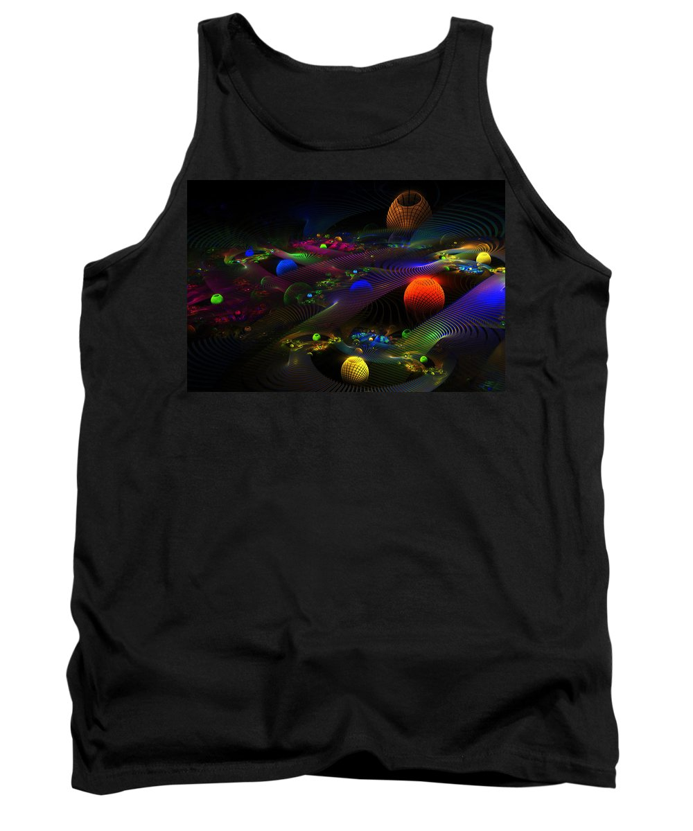 Abstract Psychedelic Fractal Art Tank Top featuring the photograph Abstract Psychedelic Fractal Art by Keith Webber Jr