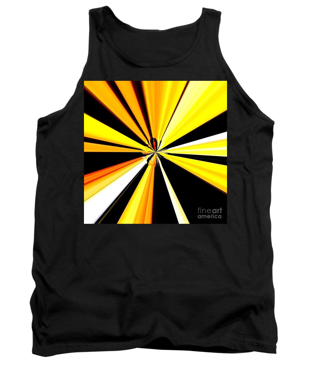 Tiger Tank Top featuring the painting Abstract Tiger Art by Saundra Myles