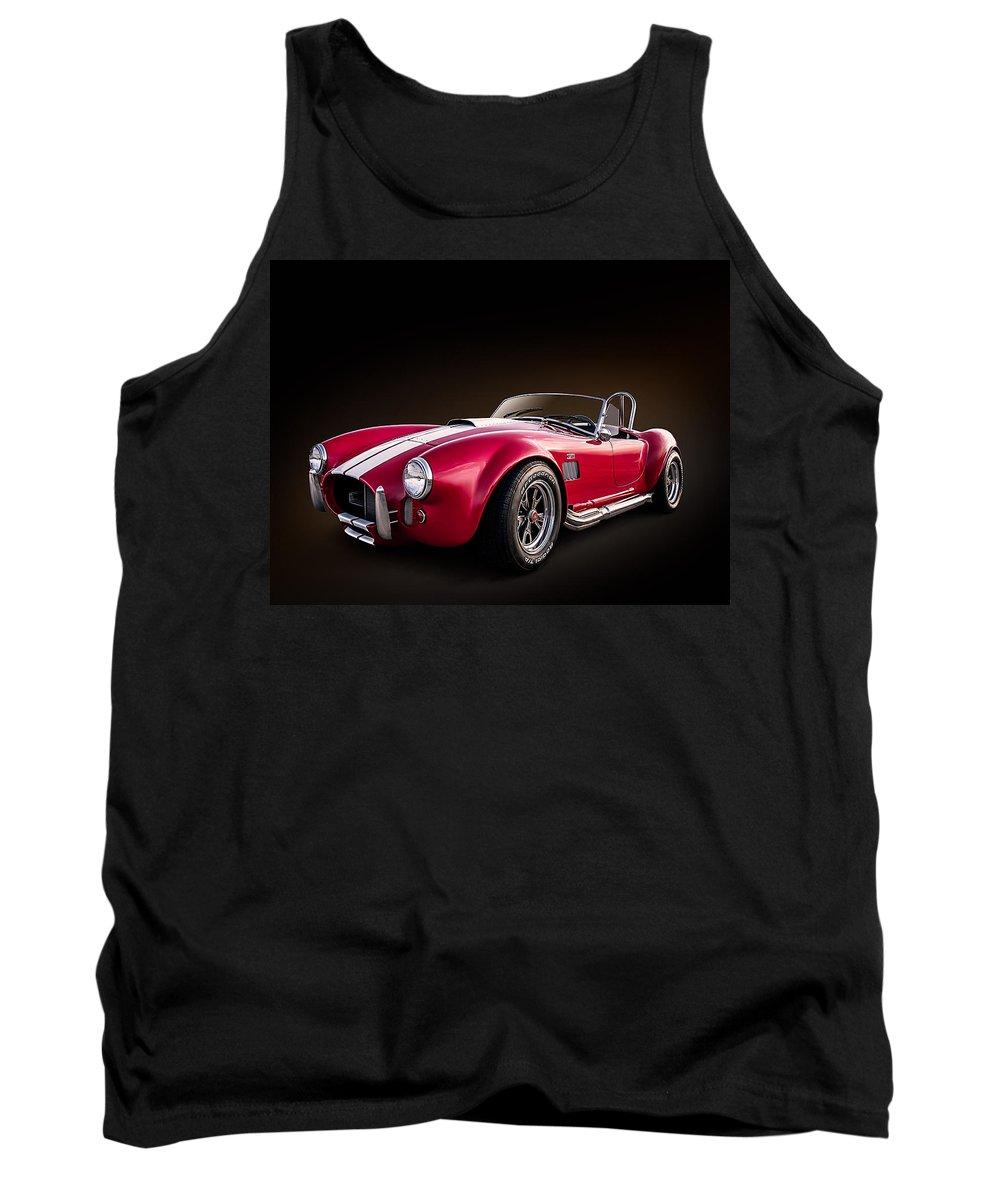 Red Tank Top featuring the digital art Ac Cobra by Douglas Pittman
