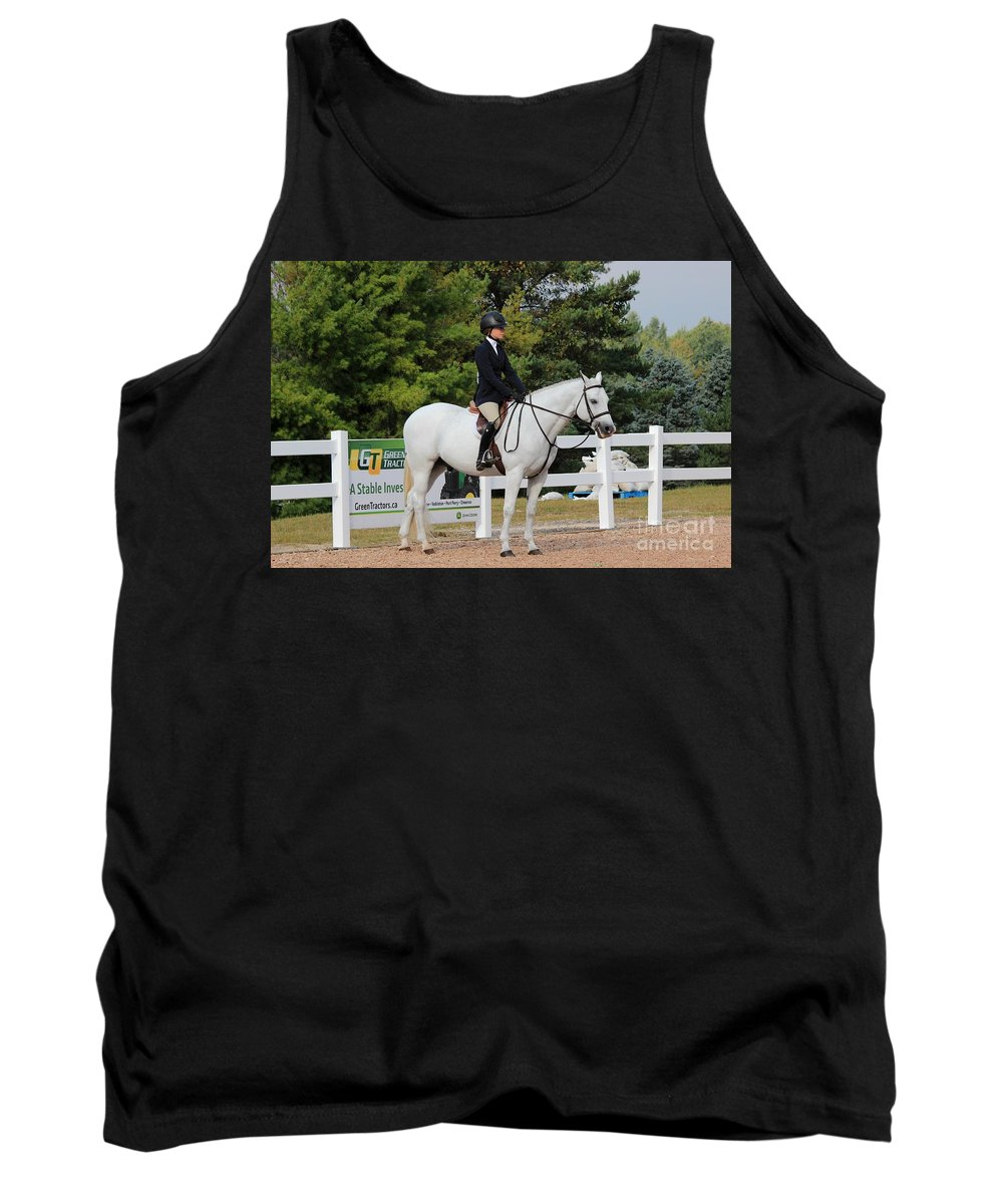 Horse Tank Top featuring the photograph Ac-hunter3 by Janice Byer