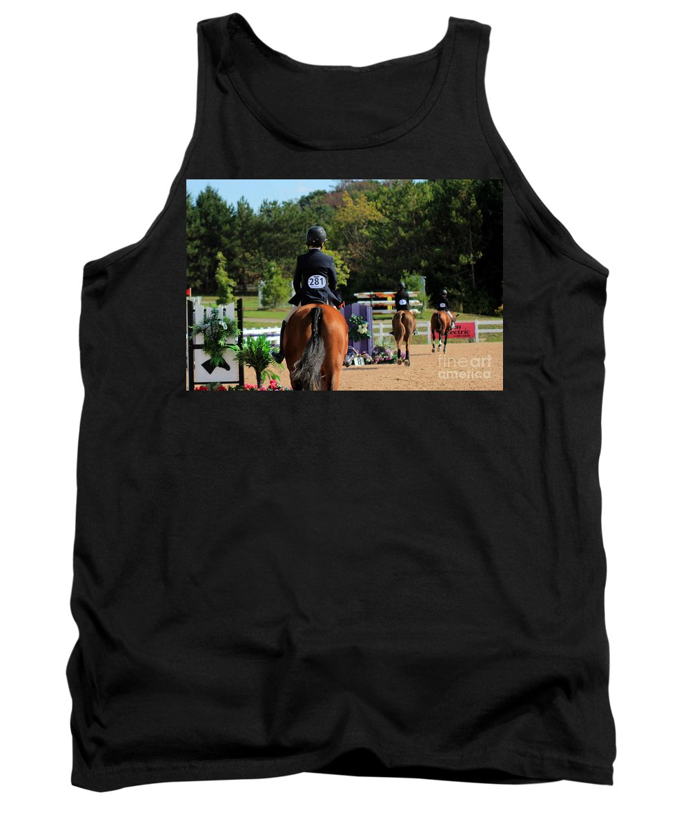 Horse Tank Top featuring the photograph Ac-medal2 by Janice Byer