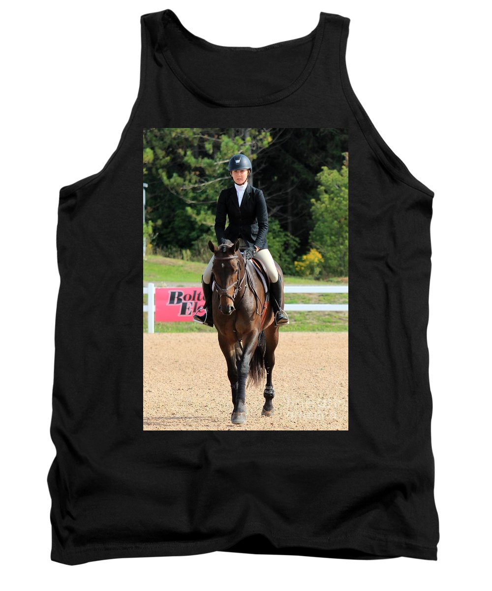 Horse Tank Top featuring the photograph Ac-medal27 by Janice Byer