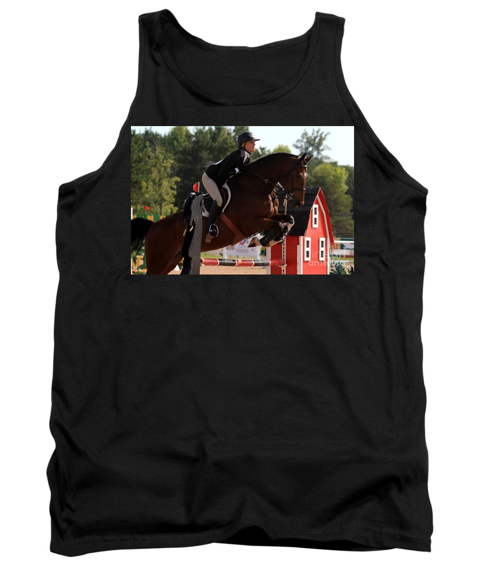 Horse Tank Top featuring the photograph Ac-medal8 by Janice Byer