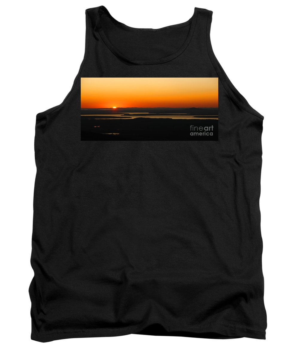 Sunset Tank Top featuring the photograph Acadia Sunset by Olivier Le Queinec