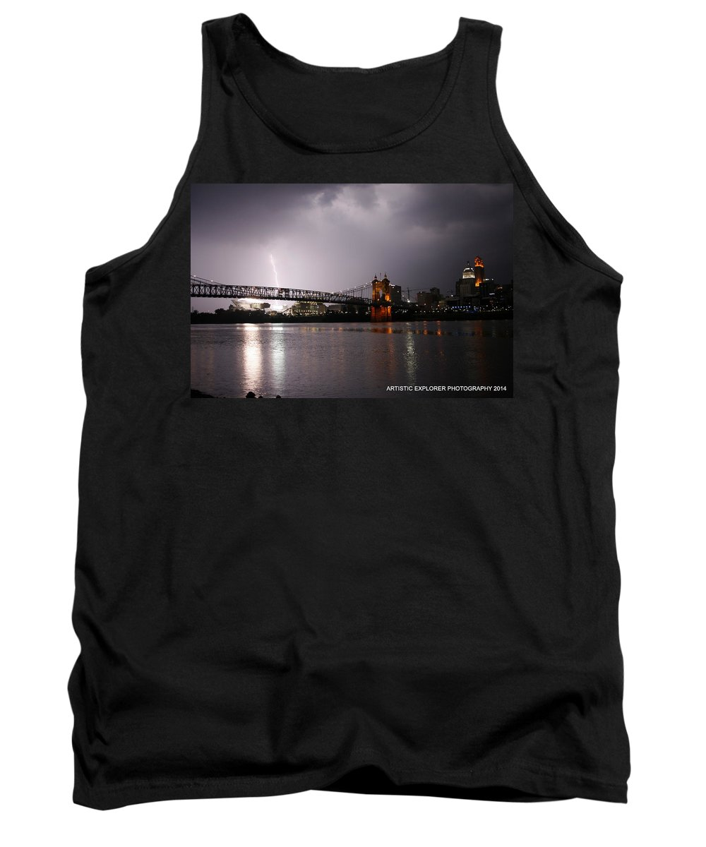 Cincinnati Tank Top featuring the photograph Act Of God by Artistic Explorer Creations By Gregg L Walker
