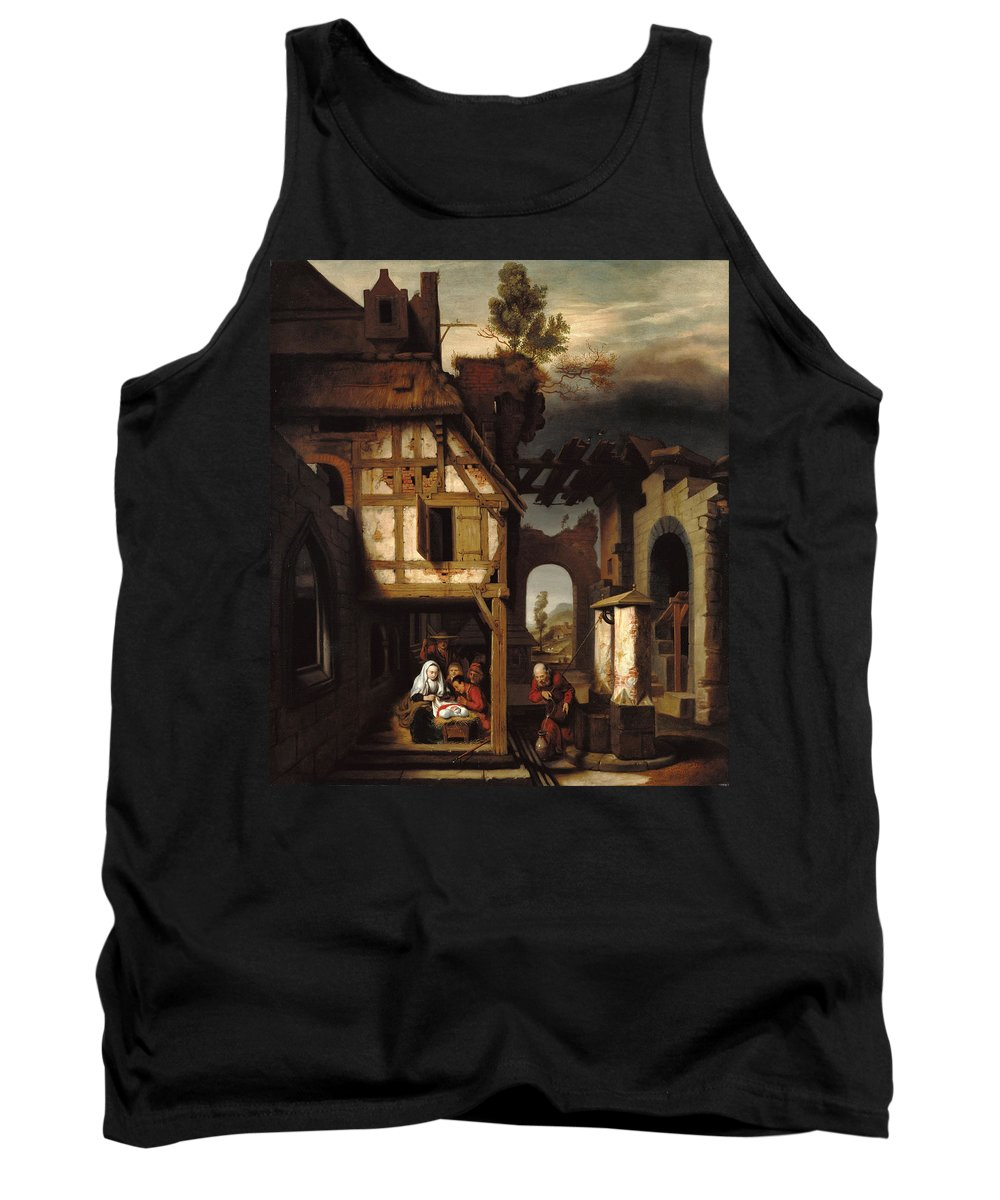 Nicolaes Maes Tank Top featuring the painting Adoration Of The Shepherds by Nicolaes Maes