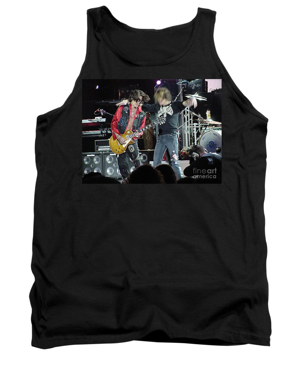 Aerosmith Tank Top featuring the photograph Aerosmith - Joe Perry -dsc00182-2-1 by Gary Gingrich Galleries