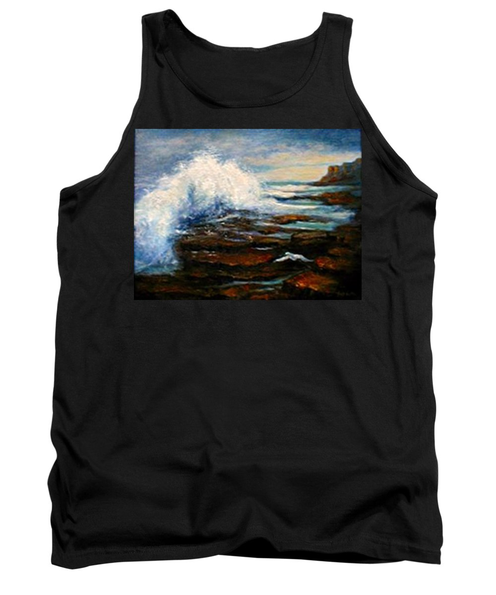 Seascape Tank Top featuring the painting After The Storm by Gail Kirtz