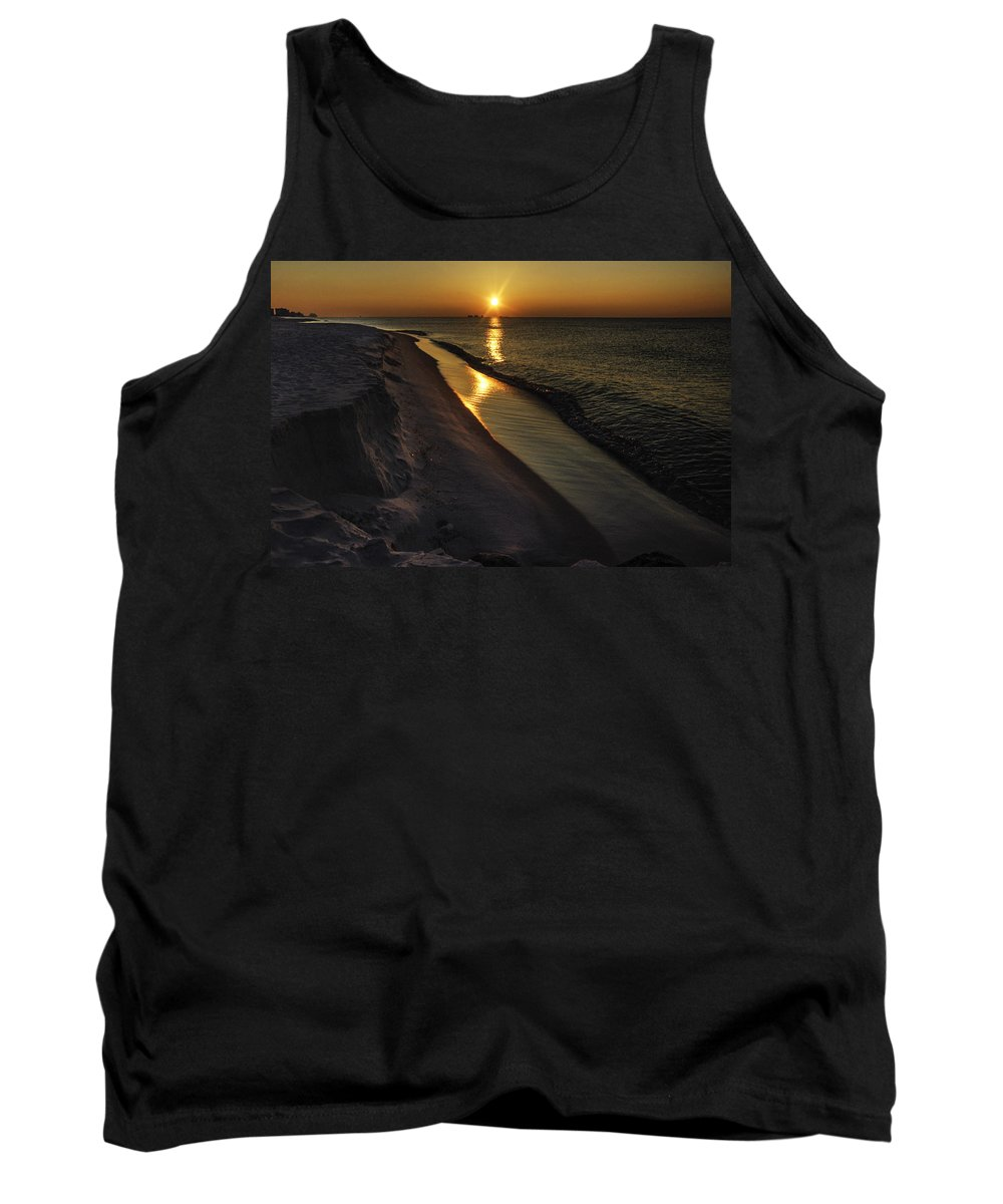Palm Tank Top featuring the digital art Alabama Sea Cliffs by Michael Thomas