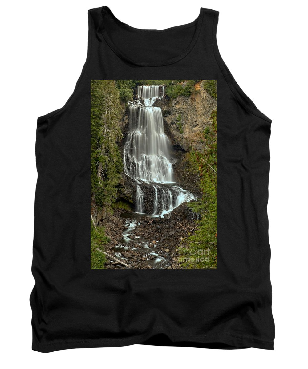 Alexander Falls Tank Top featuring the photograph Alexander Falls - Whistler Bc by Adam Jewell