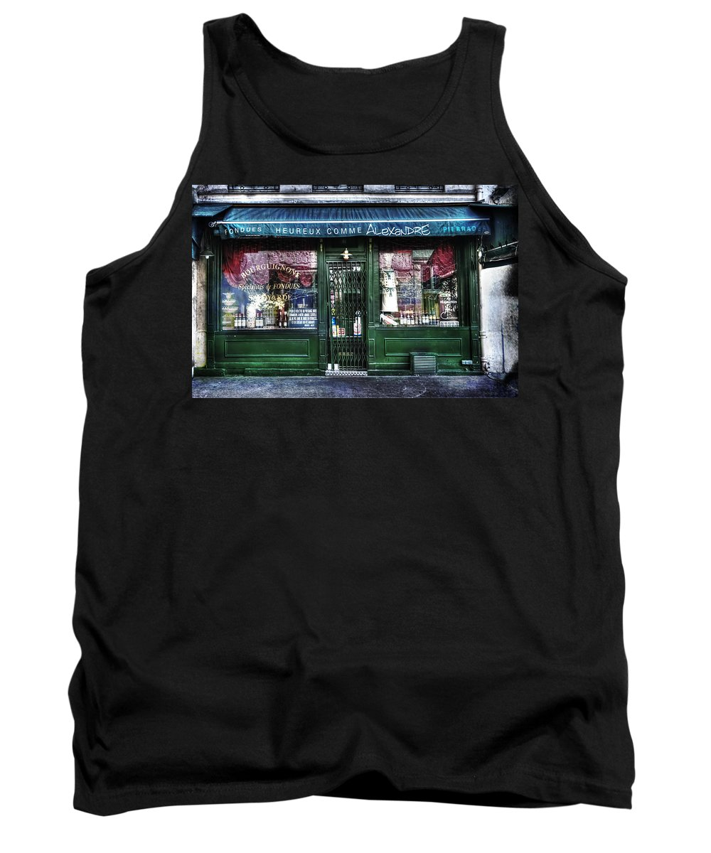 Evie Tank Top featuring the photograph Alexandre Paris France by Evie Carrier