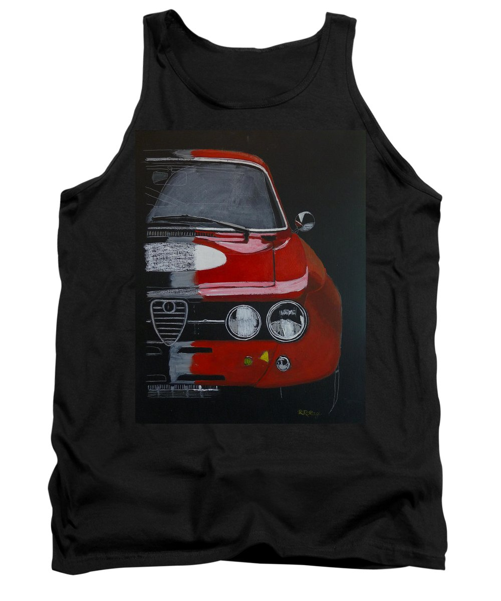 Alfa Tank Top featuring the painting Alfa Romeo Gtv by Richard Le Page