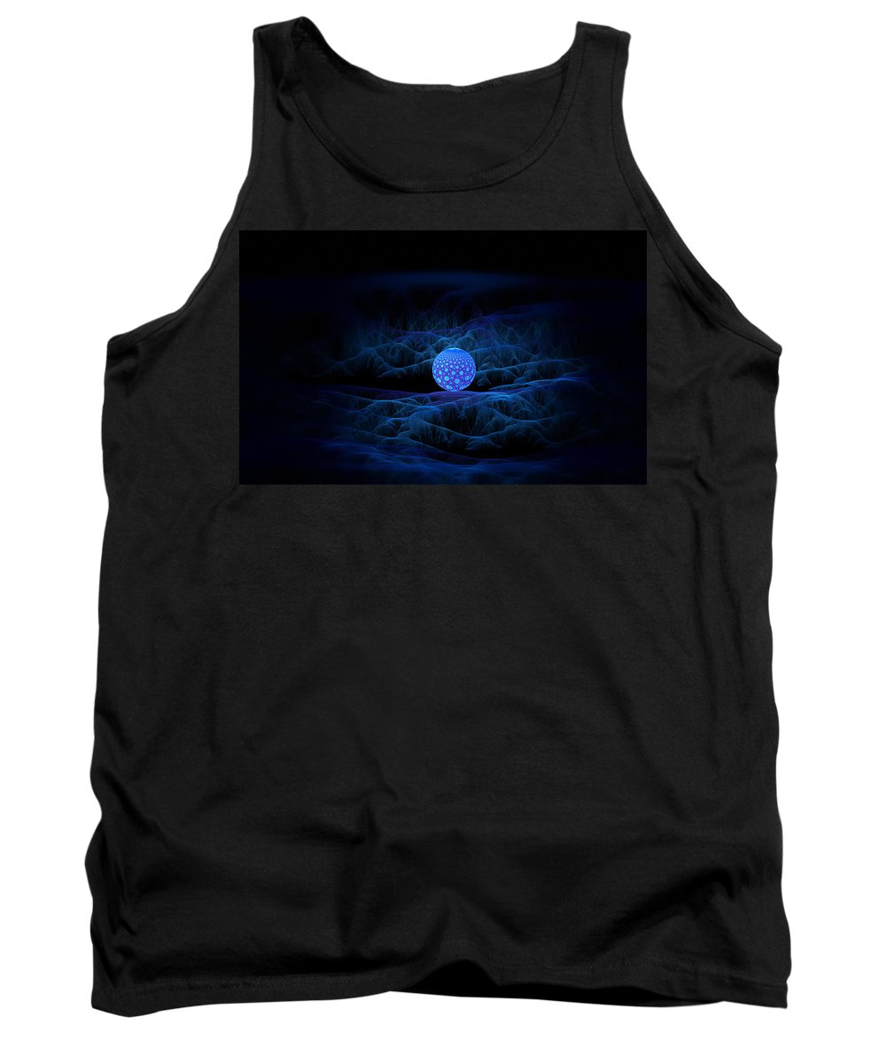 Fractal Tank Top featuring the digital art Alien Seed by GJ Blackman