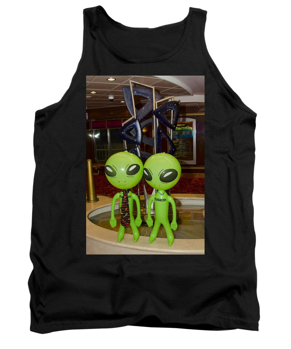 Aliens Tank Top featuring the photograph Aliens And Whatamacallit by Richard Henne