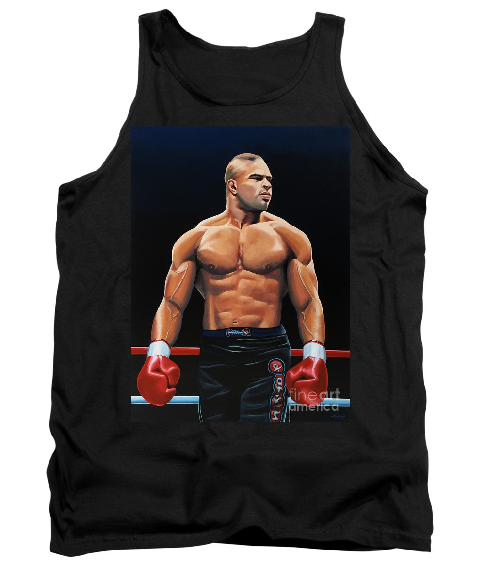 Alistair Overeem Tank Top featuring the painting Alistair Overeem by Paul Meijering