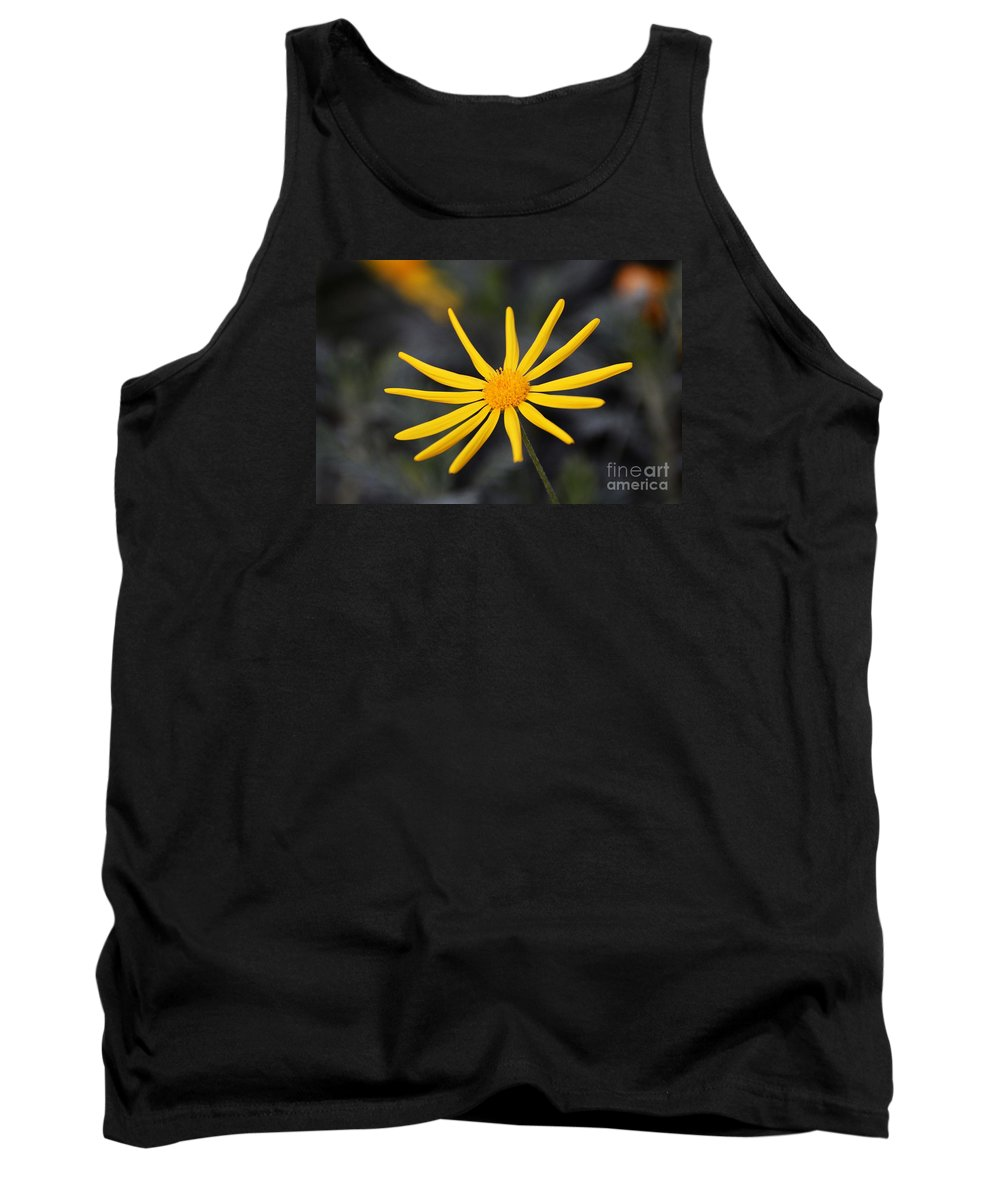 Flower Tank Top featuring the photograph All By Myself by Cindy Manero