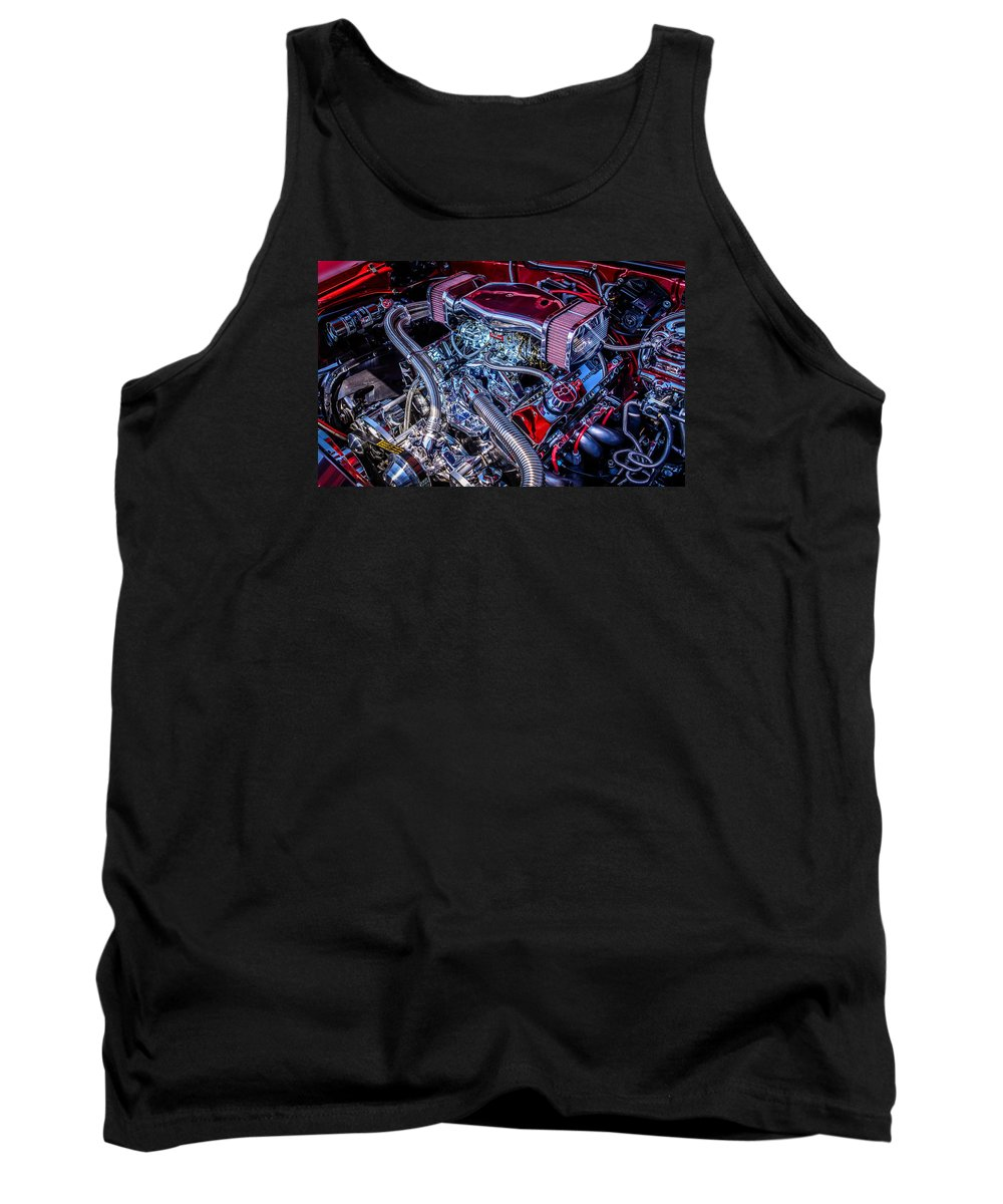 Engine Tank Top featuring the photograph All Chromed Out by Colleen McIntier