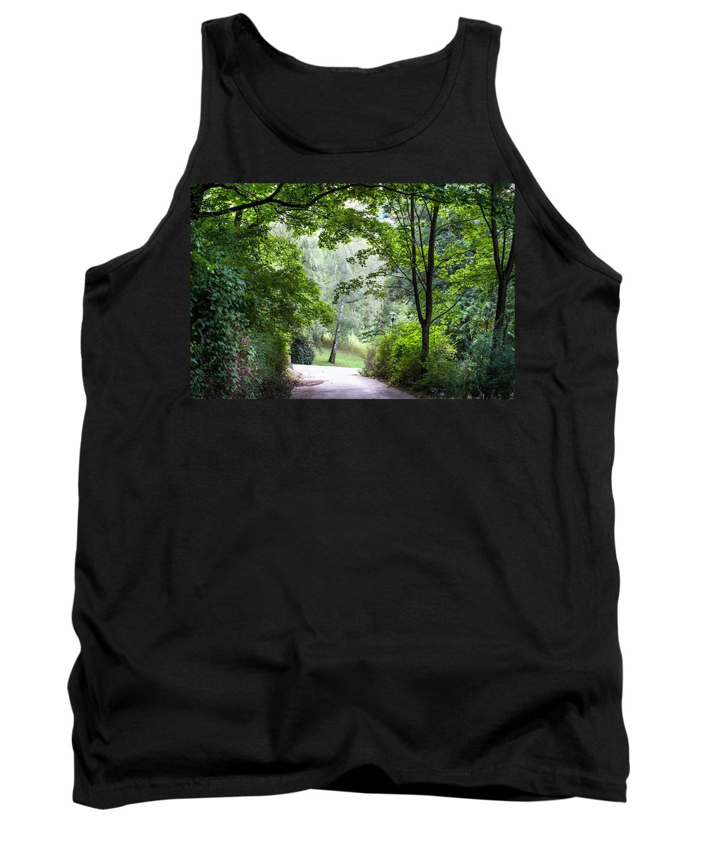 Prague Tank Top featuring the photograph Alley Of The Petrin Park. Prague by Jenny Rainbow