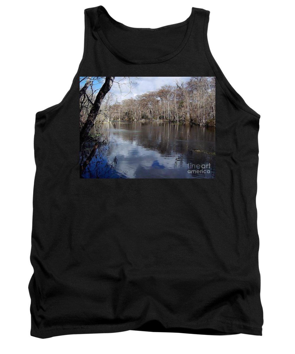 River Tank Top featuring the photograph Silver River - Reflections by D Hackett